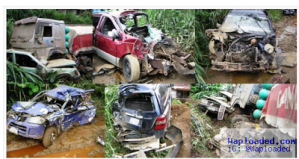 Many injured as Dangote truck collides with multiple vehicles along Calabar expressway